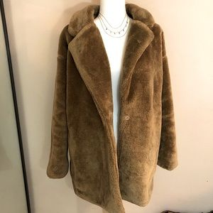Paisie Oversized Soft Teddy Coat/ Faux Fur Coat